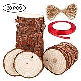SOLEDI Holz Scheiben Rund für DIY Handwerk Hochzeit Weihnachten (#3)