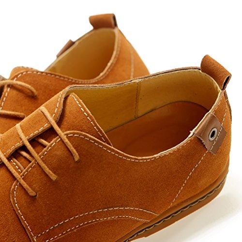 YiJee Grande Taille Loisir Chaussure Lacets Chaussures de ville Homme Chameau