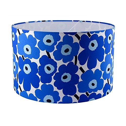 marimekko-blue-poppy-fabric-handmade-drum-lampshade