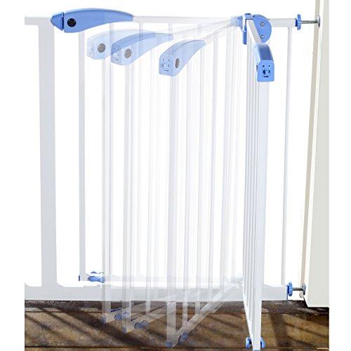 Yorbay Türschutzgitter Treppenschutzgitter 75cm-185cm Klemminstallation Ohne Bohren, 15 Varianten wählbar (95-105cm) - 5