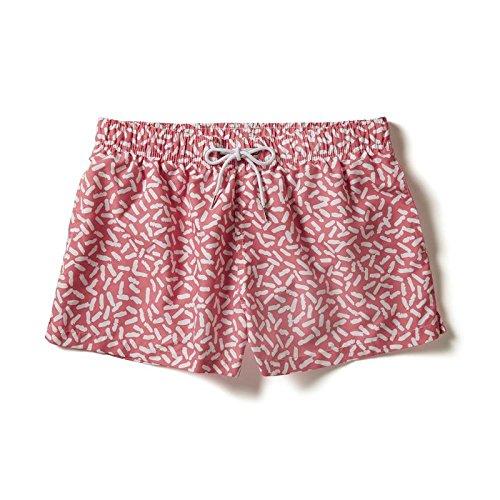 Boardies Herren Plankton Shortie Swim Shorts rose