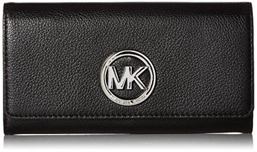 Michael Kors Black Silver Fulton Carryall Wallet OSFA