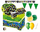 IRPot presenta: Un fantastico set di accessori per addobbare al meglio l'ambiente della tua festa! Coordinato completo a tema Tartarughe Ninja ! Fai felici i tuoi bambini decorando la loro festa per renderla indimenticabile! Il set comprende:...