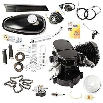 vevor moteur de moteur gaz kit de motorisation pour v lo moteur essence 2 temps. Black Bedroom Furniture Sets. Home Design Ideas