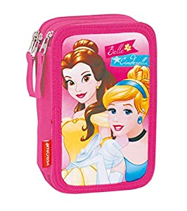 Disney Princesas Plumier Triple, Color (Multicolour), 20 x 13 x 6 cm (Montichelvo 54257)