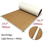 yuanjiasheng 90×240cm EVA Synthetic Boat Decking Sheet Yacht Marine Flooring Anti Slip Carpet With Backing Adhesive,Bevel Edge 11