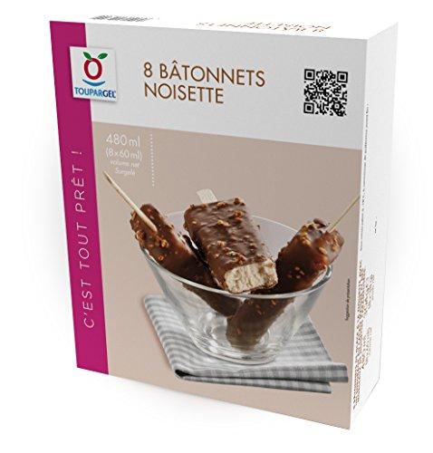 TOUPARGEL - Bâtonnets noisette - 8 x 38 g - Surgelé