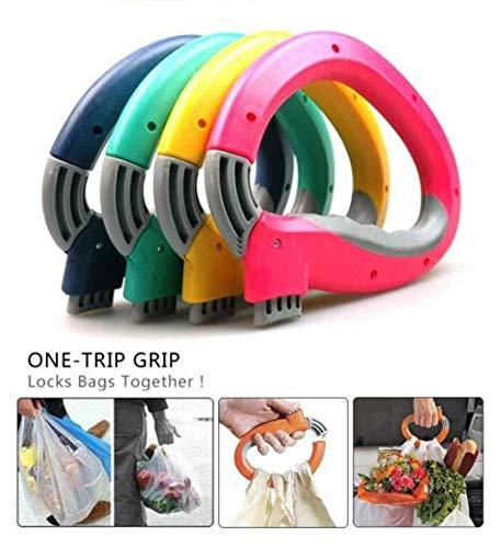 Komfortable 2 Stück/Pack One Trip Grip Einkaufstaschen-Halter Tragetaschen-Halter Tragegriff Arbeit Sparen Werkzeug Home Küche Werkzeug Bella Küche