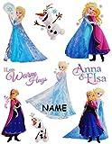 Unbekannt 9 tlg. Set _ Fensterbilder -  Disney die Eiskönigin - Frozen  - Incl. Name -..