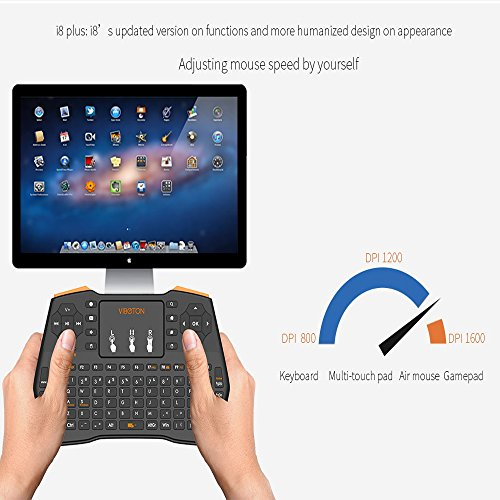 2 4GHz Mini Wireless Keyboard Touchpad Mouse Combo Portable Handheld