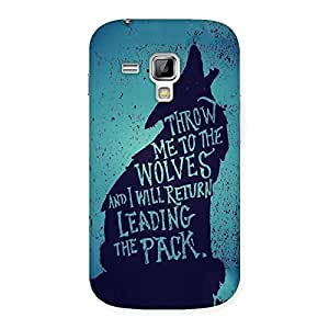 Goosbery To Wolves Back Cover For Samsung Galaxy S Dous