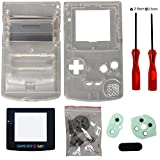 GBC Casse, Timorn Sostituzione Case Cover Shell alloggiamento pieno per GBC Gameboy Color (trasparente)