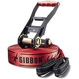 Gibbon Slackline Set Classic Line X13 Tree Pro, 15 Meter, inkl. Ratschenschutz und Baumschutz