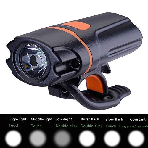 fuchsiaan 560lm Fahrrad Fahrrad wiederaufladbare Frontleuchte Lampe Taschenlampe Scheinwerfer für Nachtfahrten wasserdicht IP65 USB Bike Light Set