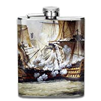 Sdltkhy Naval Warfare Portable Stainless Steel Flagon Liquor Flask