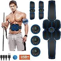 Moonssy Estimulador Muscular Abdominales, Estimulación Muscular Masajeador Eléctrico Cinturón Abdomen/Brazo/Piernas/Glúteos