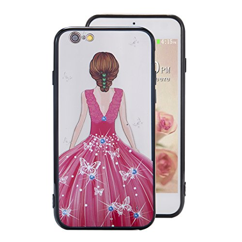Coque iPhone 6 Plus Case, Silicone Housse iPhone 6S Plus apple Case Rosa Schleife® Etui iPhone 6 Plus TPU Gel de Silicone Ultra mince Cas Transparente Housse de Protection Back Cover Protective Shell  8-Style