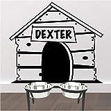 lsweia Decalcomania della Parete Personalizzata Dog House Adesivo Personalizzato Nome Pet Wall Sticker per Cocche Coccole Smontabile del Vinile Murales Home Decor57 * 48Cm