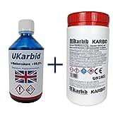 Ukarbid 1,0 L Buttersäure + 0,5 Kg Karbid > 99,5% als deutsche Marke...