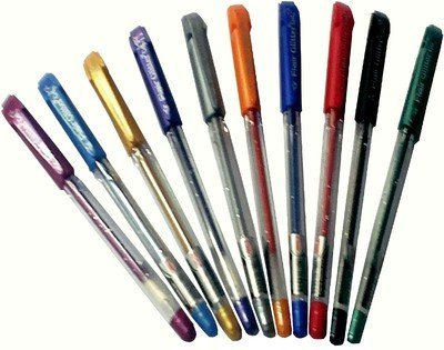 Xtra Sparkle Glitter Gel 10 Colours Xtra Sparkle Gel Pen by Flair (Pack Of Five = 50 Pens)