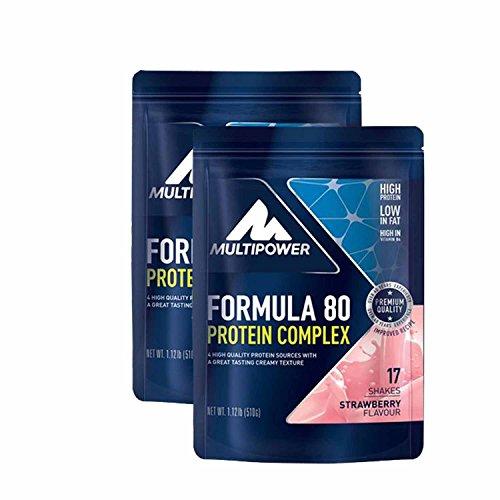 Multipower Muscle Protein Formula 80 Evolution ( 2 x 510g = 1020g), Vanille