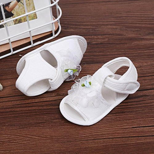 Baby Schuhe, Switchali Neugeborene Anti-Rutsch Kleinkind Prewalker für 0-12 Monat Weiß