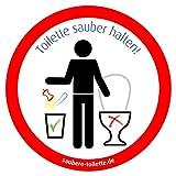 4x Kein Müll bzw. Keine Abfälle in Toilette - Toilette sauber halten/WC Hygiene Aufkleber von immi.de (Camping, Wohnwagen, Wohnmobil, Caravan)