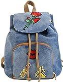 Bluebags Damen Mochila Vaquera Con Solapa y Emojis Rucksack, Blau (Jeans)