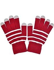Demarkt Thermal Strick Streifen Design Warm Handschuhe Damenhandschuhe Winterhandschuhe