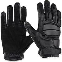 normani Leder-Handschuhe aus Rindsleder mit Kevlarfutter und Protektoren - Schnitthemmend, hohe Schlagkraft