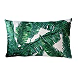 Tropische Pflanzen und Flamingos