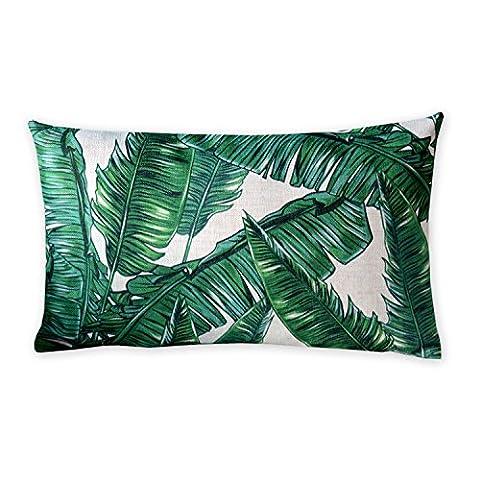 Tropical plants and flamingos Cotton Linen Pillowcase American art Cushion Decorative Pillows Home Decor Sofa Throw Pillow Cover