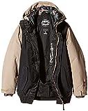 Nitro Jungen Snowboard-Jacke Boys Squaw Jacket 15, Black/Khaki, M, 1151873259 - 2