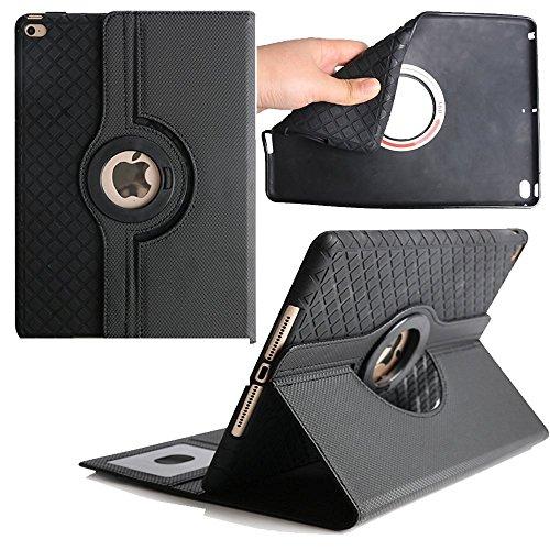 2017 iPad Pro 10,5 Hülle, TechCode ® 360 Grad Drehbare Multi Winkel Display Magnetisch Schutzhülle mit Leichte Ständer und Hülle Case Schutzhülle Tasche für Apple iPad Pro 10.5'' (Schwarz) (Apple Ipad 360 Fällen)