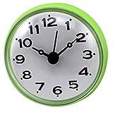Giplar Mini Lautlos Wasserdicht Badezimmer Uhren mit Saugnapf Wanduhr für Bad, Küche und Terrasse