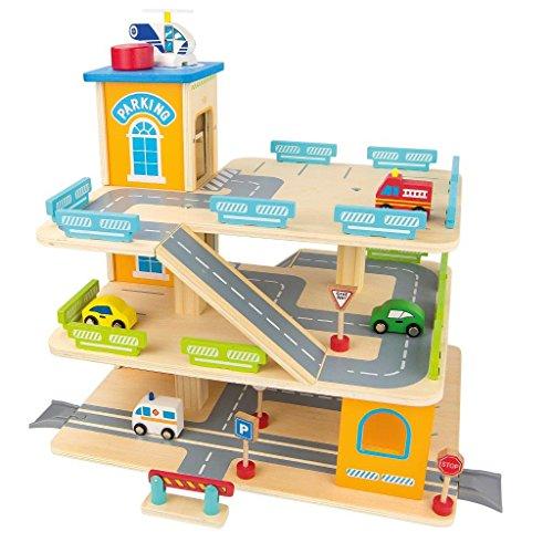 Garage En Bois  Parking À Voitures Avec Étage Et Ascenseur Le Grand Garage Avec...