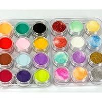 yuhemii 24?Colores 3d Nail Art Glitter polvo acrílico decoración