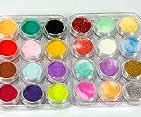 yuhemii 24?Colori 3d nail art glitter polvere acrilico decorazione