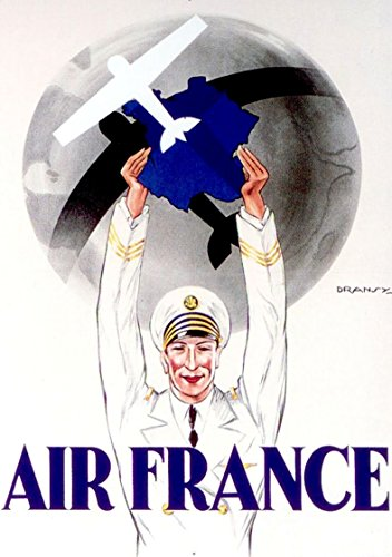 air-france-1933-wonderful-a4-glossy-art-print-taken-from-a-rare-vintage-travel-poster