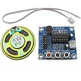 Goliton ISD1820 Module d'enregistrement Module vocal La planche vocale Carte module téléphonique Avec microphones + haut-parleur