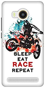 The Racoon Lean Sleep Eat Race Repeat hard plastic printed back case / cover for Vivo X Shot