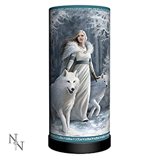 Winter Guardian Wolf Lamp 27.5cm Anne Stokes Nemesis Now