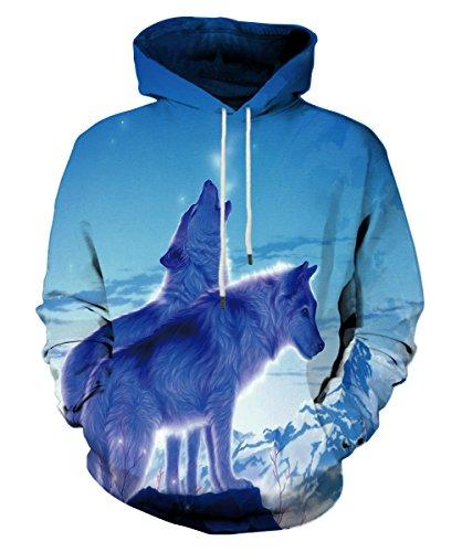 EOWJEED 3d bedruckte große Taschen Drawstring Hoodie Sweatshirt Small (Großes 3x T-shirt)
