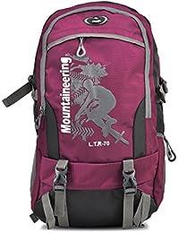 HIKE Women& Men Outdoor Travel Backpack 60-70 Litre Maroon Hiking Bag