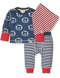 Lilly and Sid 3pc Baby Day Set Lion Stripe, Conjunto de Ropa para Bebés