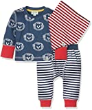Lilly and Sid 3Pc Baby Day Set Lion Stripe, Conjunto De Ropa para Bebés, Azul, 3 Mes