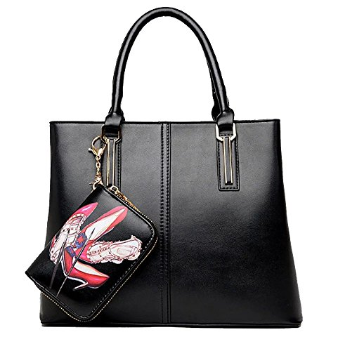 fanova-female-fashionbrief-handbag-all-matching-zipper-top-handle-bag-set-with-wallet-ornamant