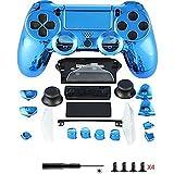 Canamite Ersatzteile Komplette PS4 Controller Gehäuse Schutzhülle Schutzhülle Tastensatz für PlayStation 4 DUALSHOCK 4 Controller blau