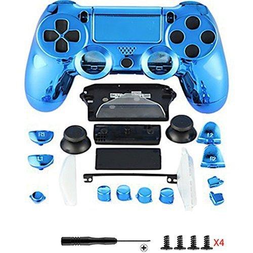 Canamite Ersatzteile Komplette PS4 Controller Gehäuse Schutzhülle Schutzhülle Tastensatz für PlayStation 4 DUALSHOCK 4 Controller - Gehäuse 4 Playstation
