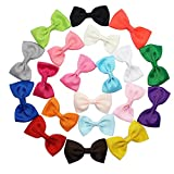Homgaty 20X Baby Girl Ribbon Bows with Alligator Clips Children Hairpin Hair Bows Clips